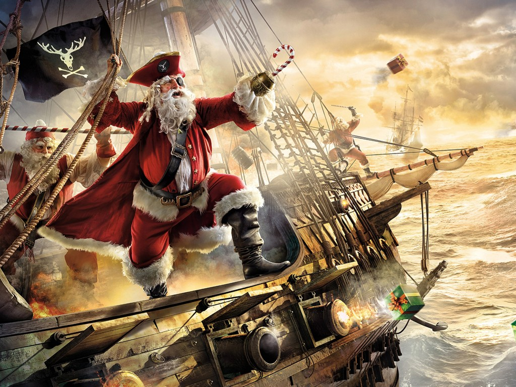 Fantasy Wallpaper: Pirate - Christmas