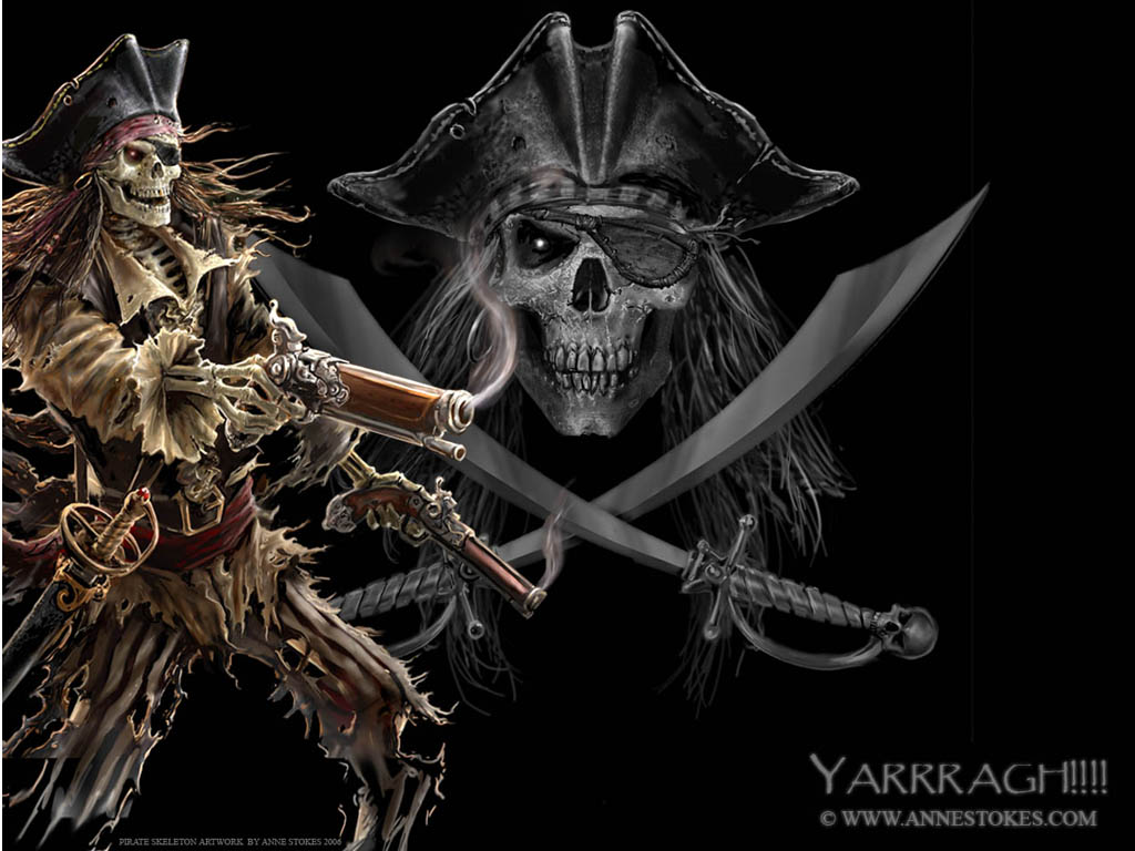 Fantasy Wallpaper: Pirate Skeleton