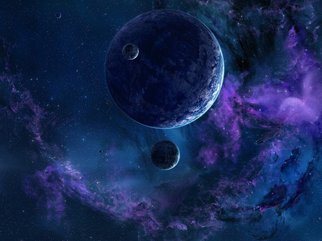Fantasy Wallpaper: Planet and Moons