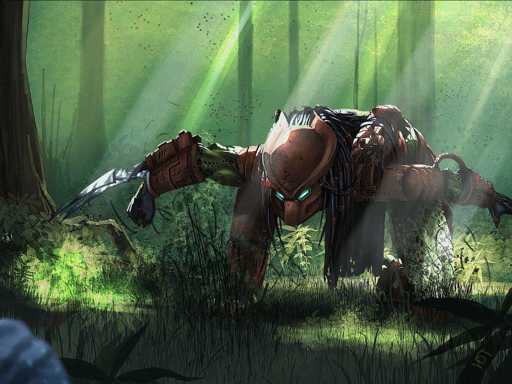 Fantasy Wallpaper: Predator - Tracking the Prey