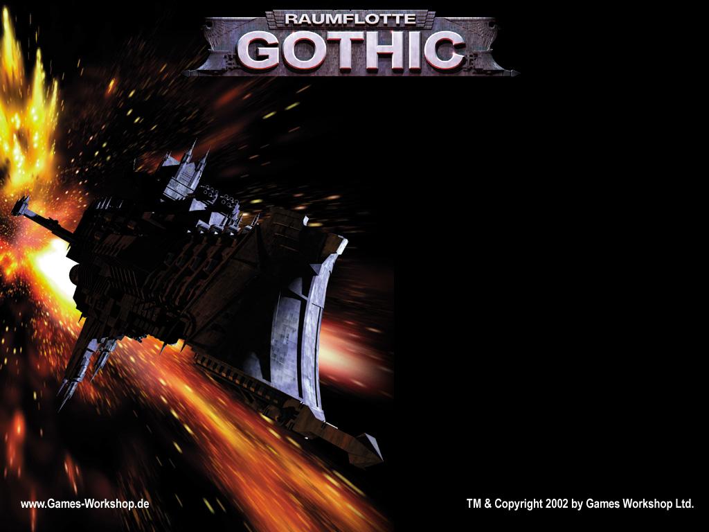 Fantasy Wallpaper: Raumflotte Gothic