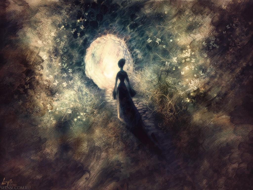 Fantasy Wallpaper: Rebirth of a Black Moth