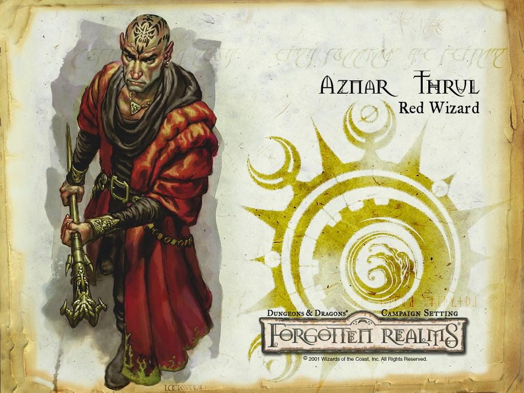 Fantasy Wallpaper: Red Wizard from Forgotten Realms