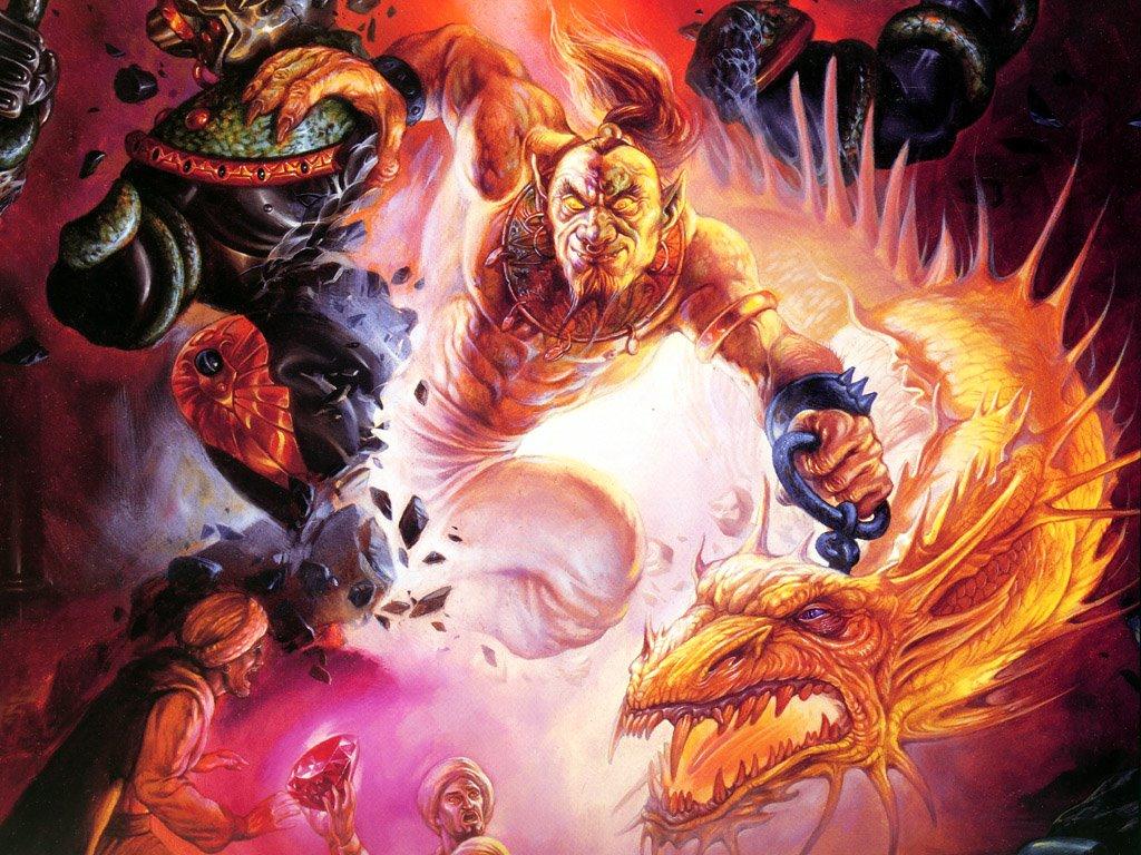 Fantasy Wallpaper: Releasing a Djinn