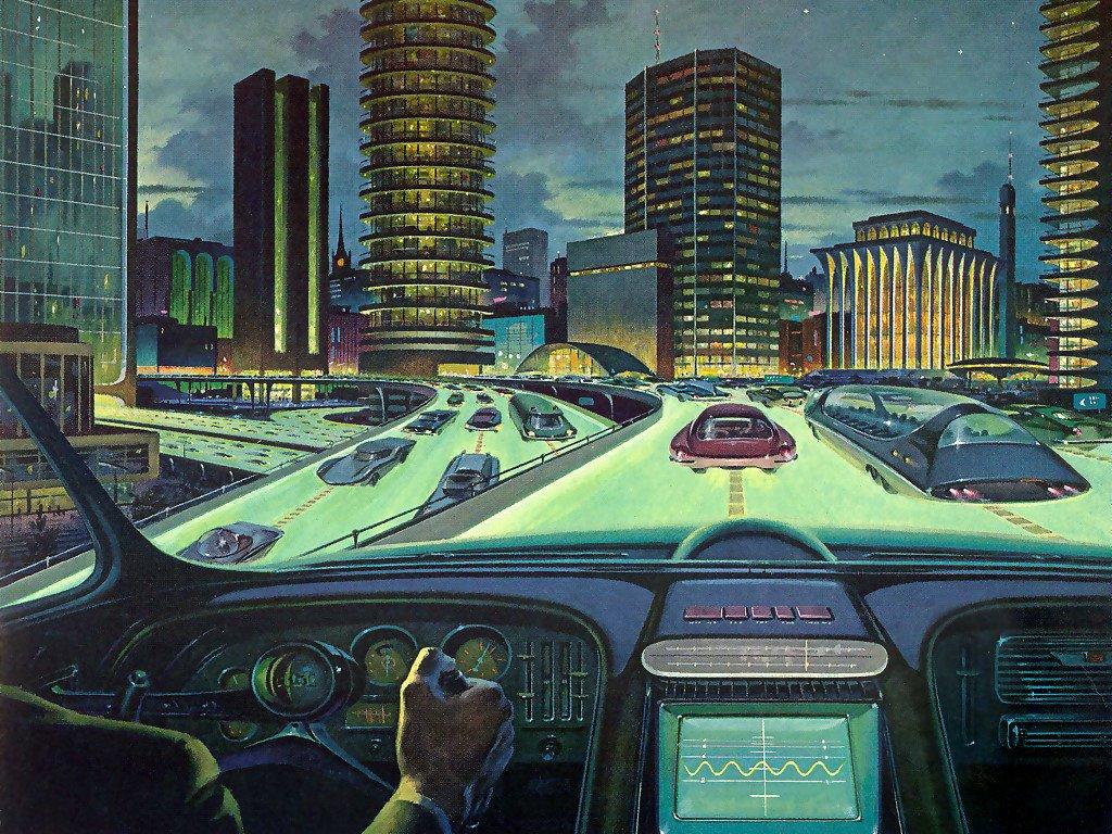 Fantasy Wallpaper: Retro Future City