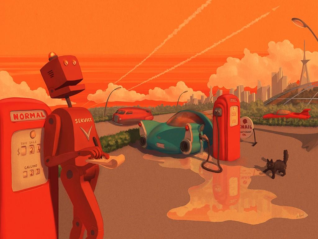 Fantasy Wallpaper: Robot - Poet