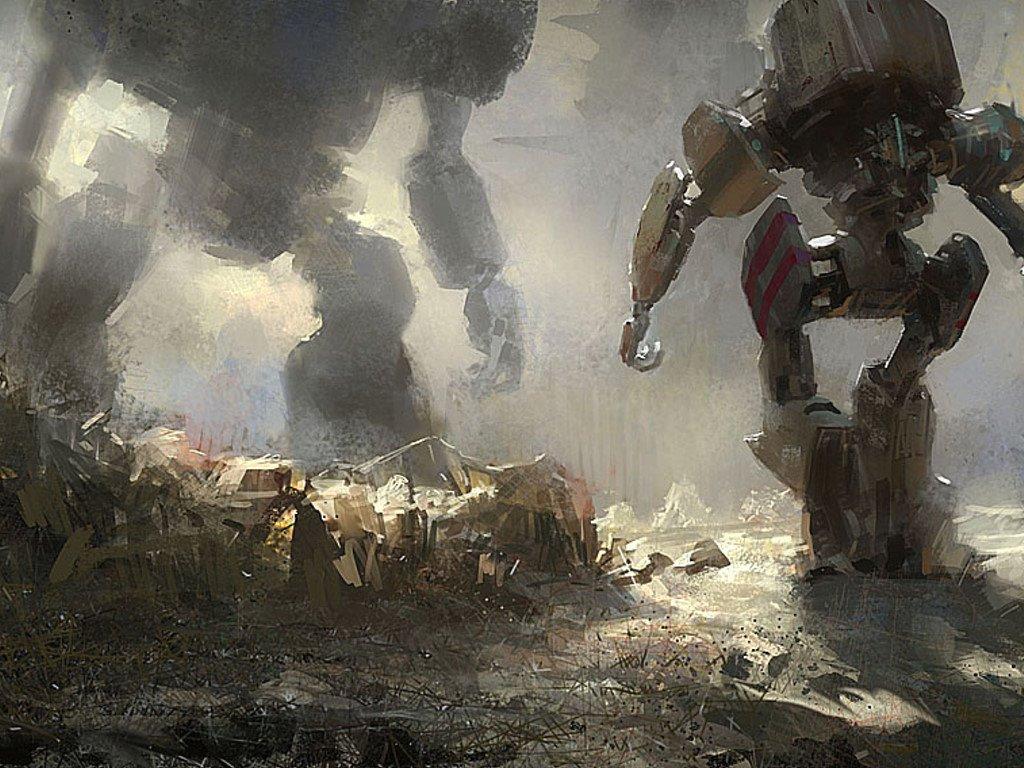 Fantasy Wallpaper: Robot vs Robot