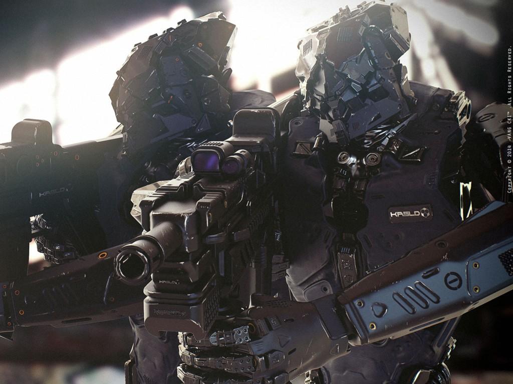 Fantasy Wallpaper: Robotic Guards