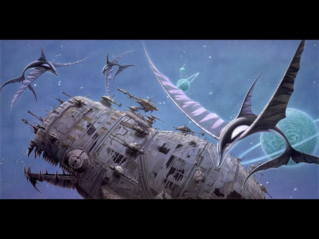 Fantasy Wallpaper: Rodney Mathews - Aqua