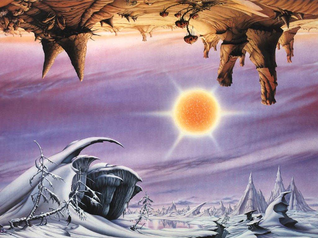 Fantasy Wallpaper: Rodney Mathews - Inverted Landscapes