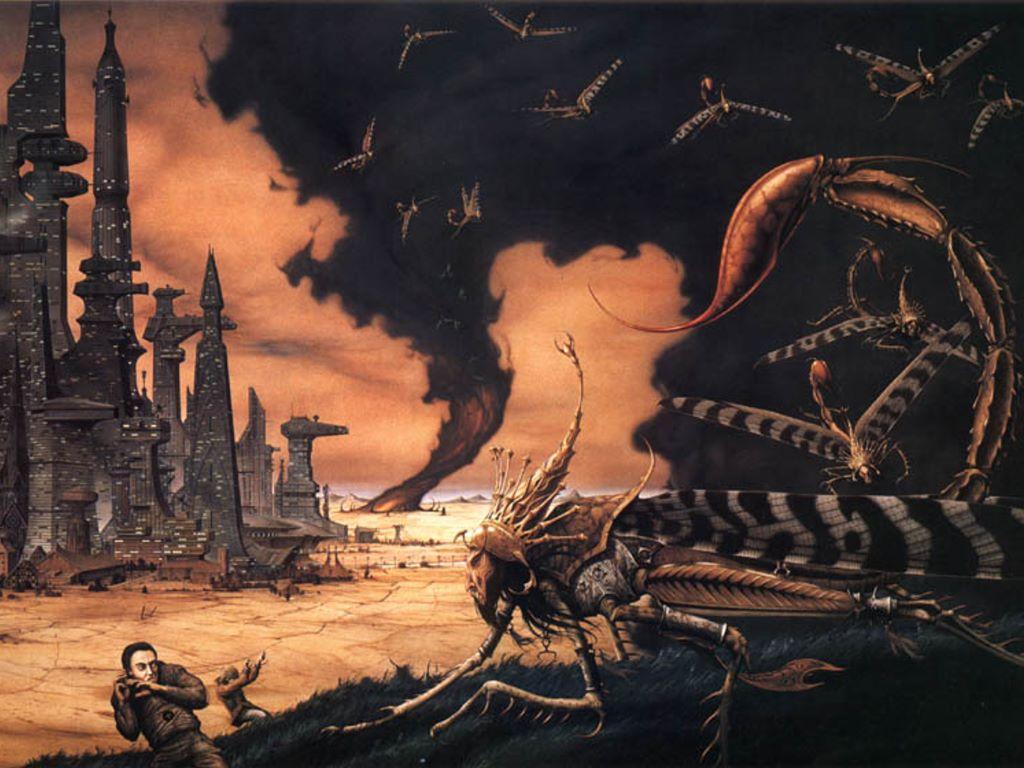 Fantasy Wallpaper: Rodney Mathews - The Torment