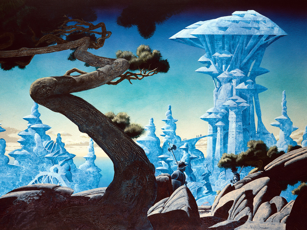 Fantasy Wallpaper: Roger Dean - Freyjas Castle