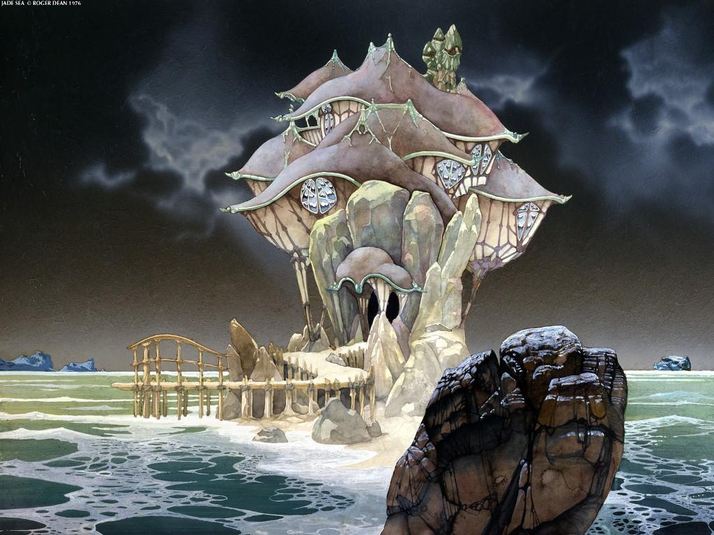 Fantasy Wallpaper: Roger Dean - Jade Sea