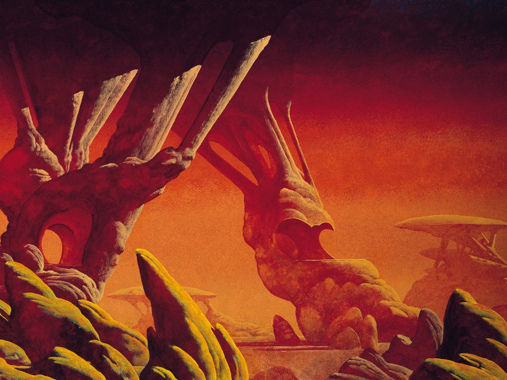 Fantasy Wallpaper: Roger Dean - Red Earth
