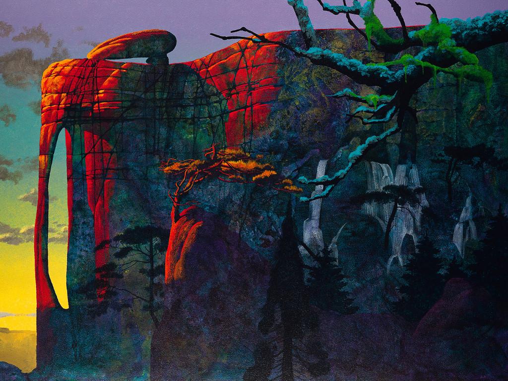 Fantasy Wallpaper: Roger Dean - Shadowland