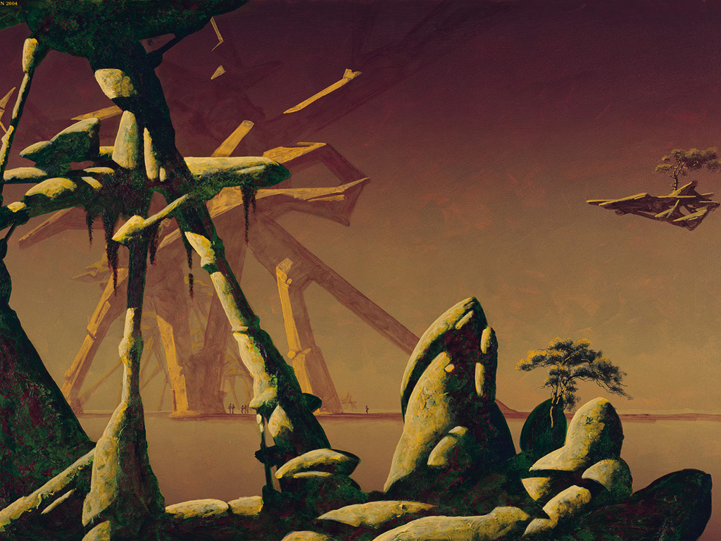 Fantasy Wallpaper: Roger Dean - The Pier
