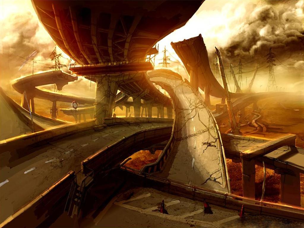 Fantasy Wallpaper: Ruined Highway