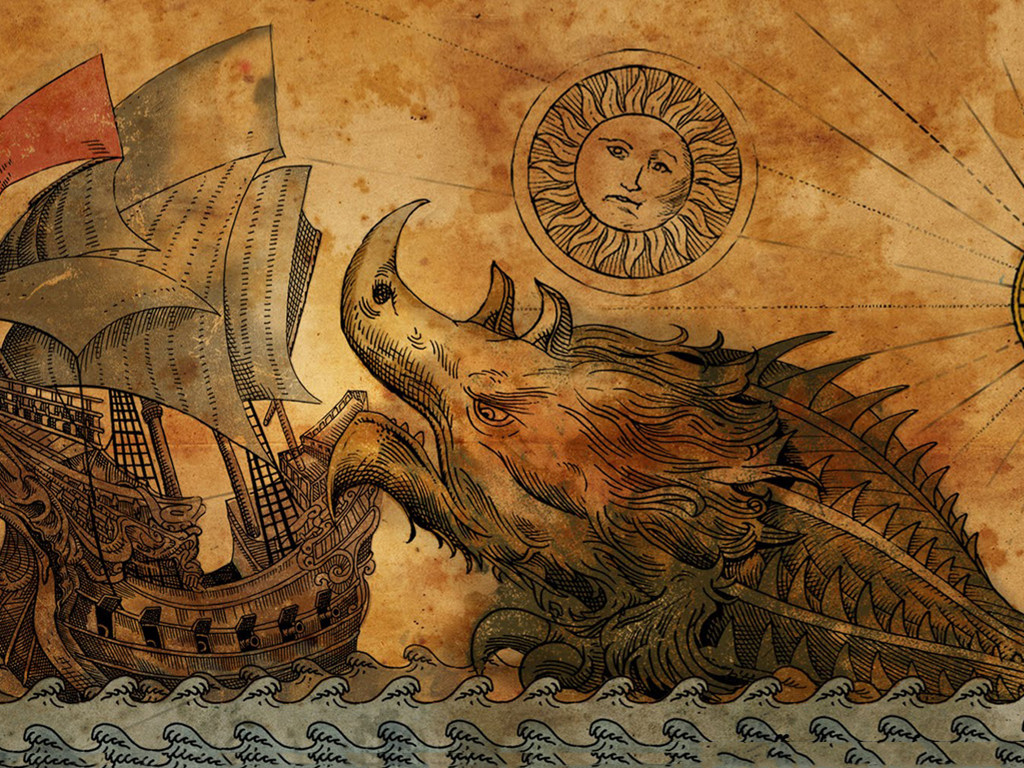 Fantasy Wallpaper: Sea Monster - Classic