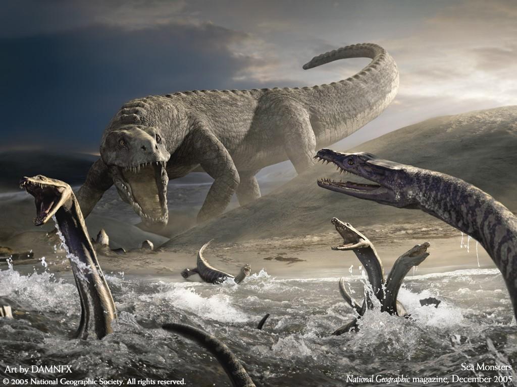 Fantasy Wallpaper: Sea Monsters