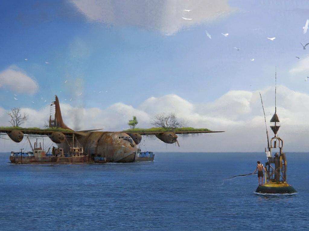 Fantasy Wallpaper: Sea World (by Oleg Zherebin)