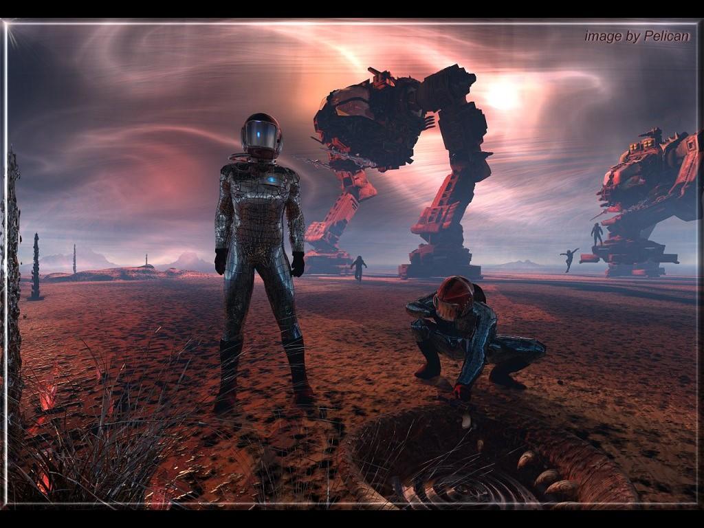 Fantasy Wallpaper: Space Explorers