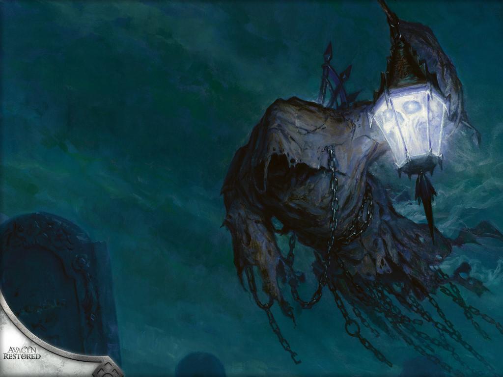 Fantasy Wallpaper: Searchlight Geist