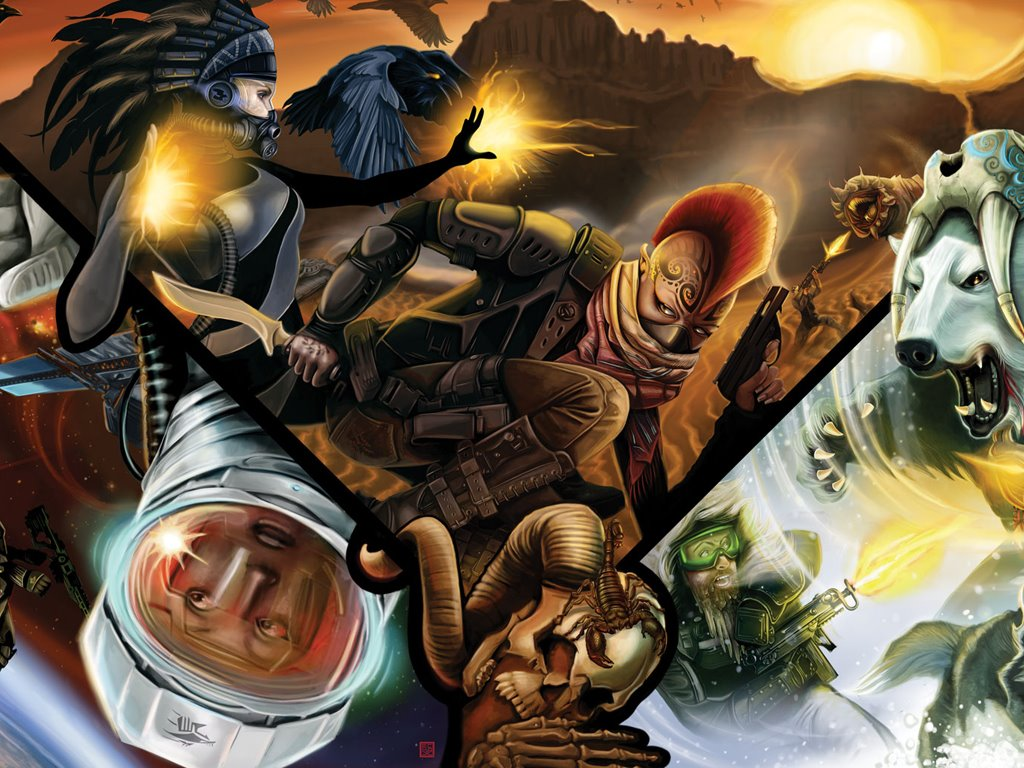 Fantasy Wallpaper: Shadowrun