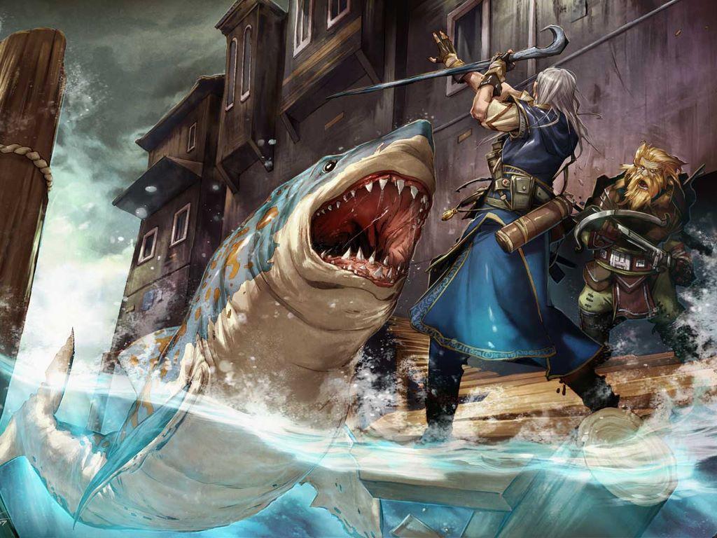 Fantasy Wallpaper: Shark Attack