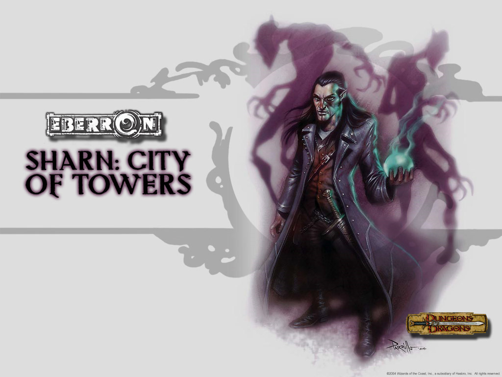 Fantasy Wallpaper: Sharn - City of Towers