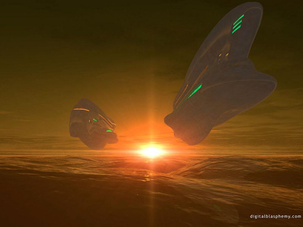 Fantasy Wallpaper: Space Ships
