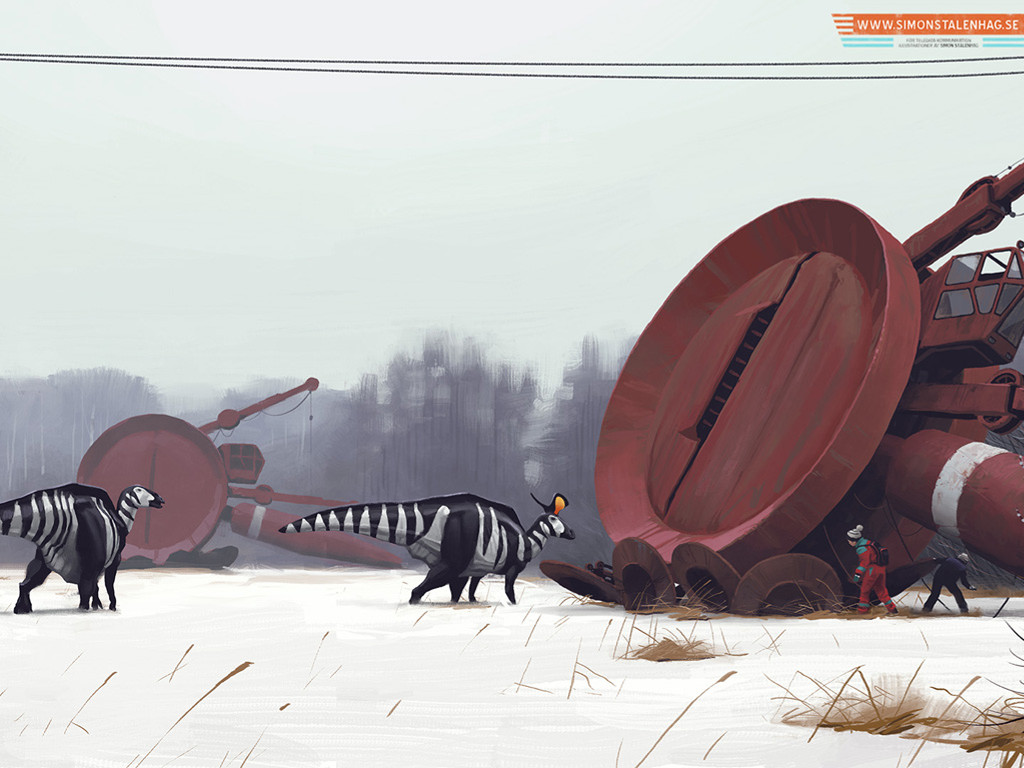 Fantasy Wallpaper: Simon Stalenhag - Art