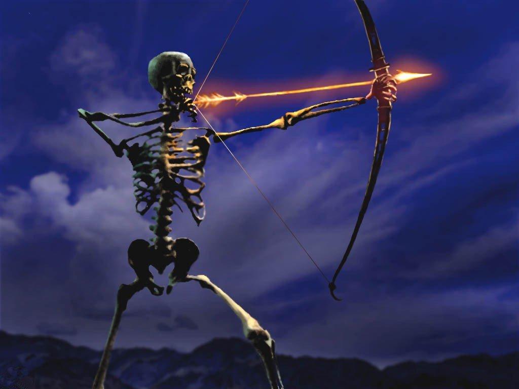 Fantasy Wallpaper: Skeleton Archer