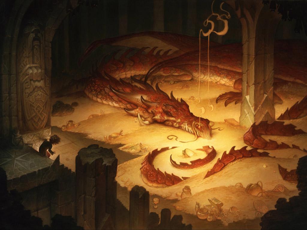 Fantasy Wallpaper: Smaug