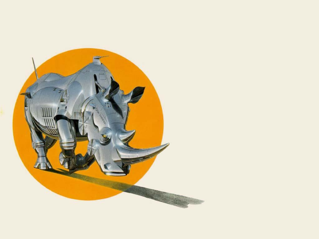 Fantasy Wallpaper: Sorayama - Rhino