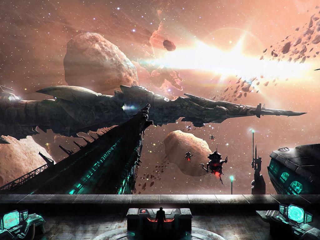Fantasy Wallpaper: Space Dock