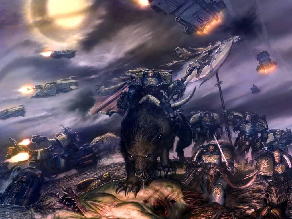 Fantasy Wallpaper: Space Marines