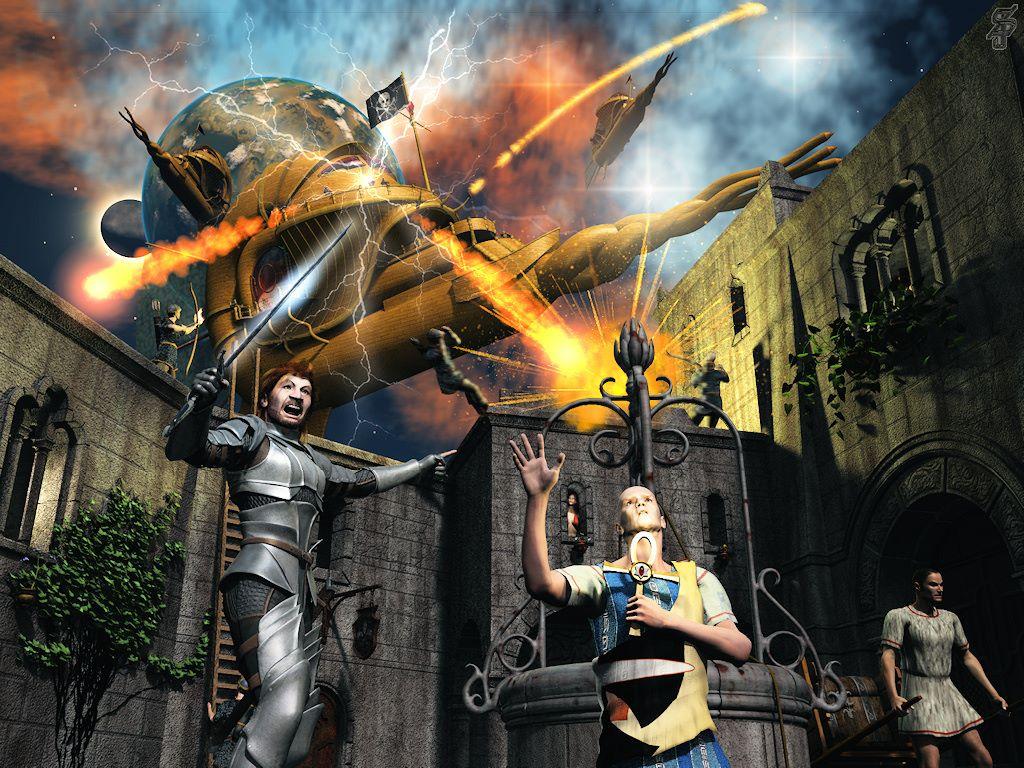 Fantasy Wallpaper: Spelljammer - Nautiloid