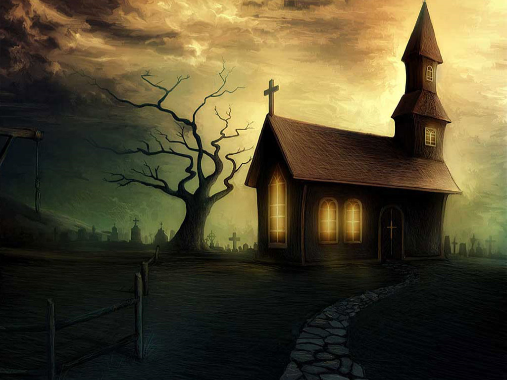 Fantasy Wallpaper: Spooky House