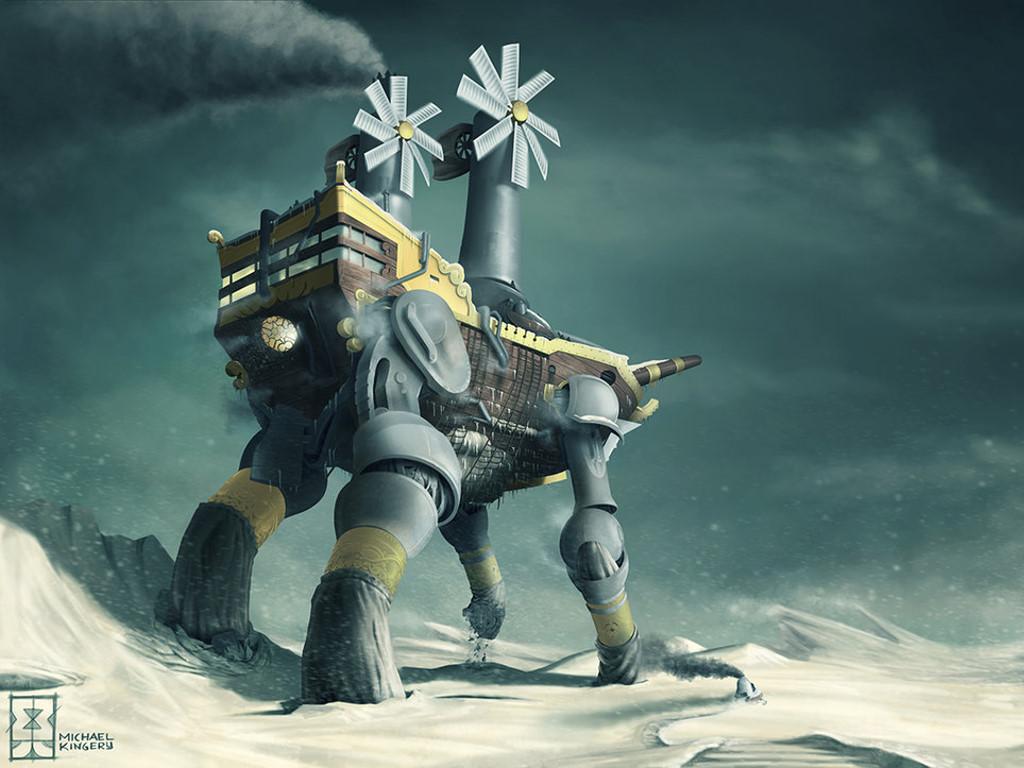 Fantasy Wallpaper: Steampunk Explorer