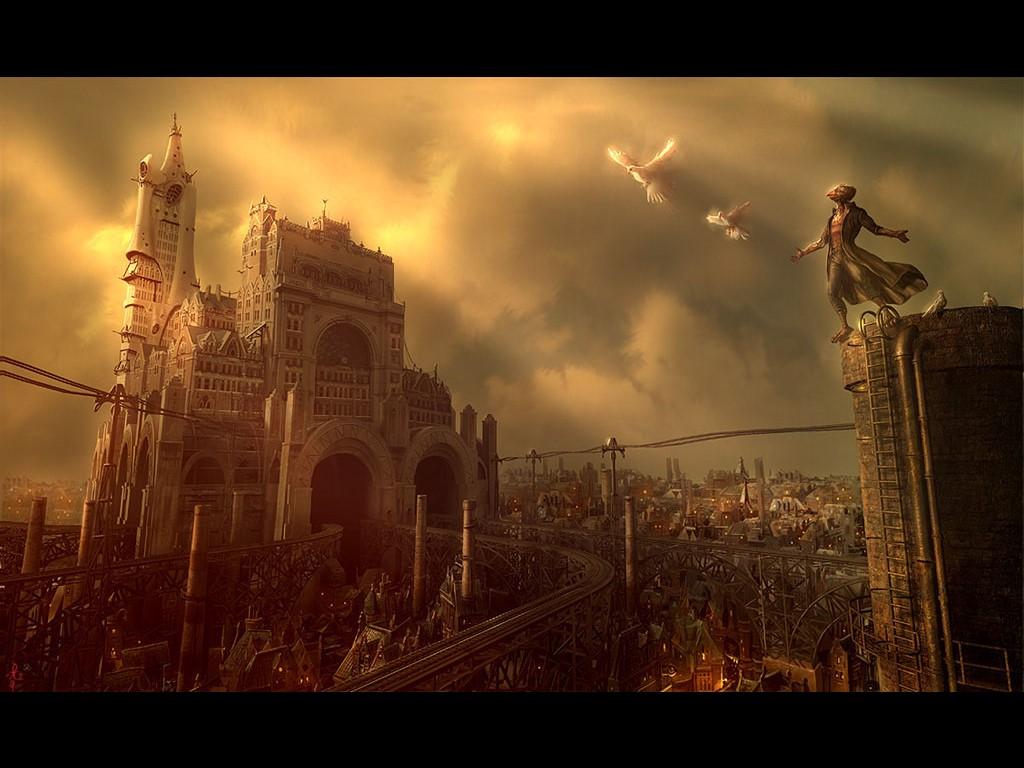 Fantasy Wallpaper: Steampunk Landscape
