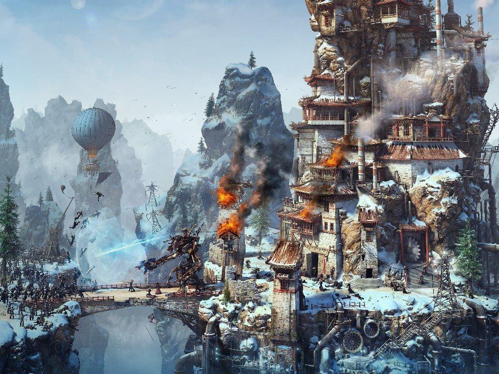 Fantasy Wallpaper: Steampunk Warfare