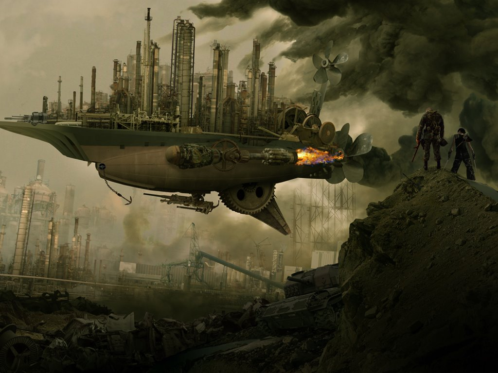 Fantasy Wallpaper: Steampunk War