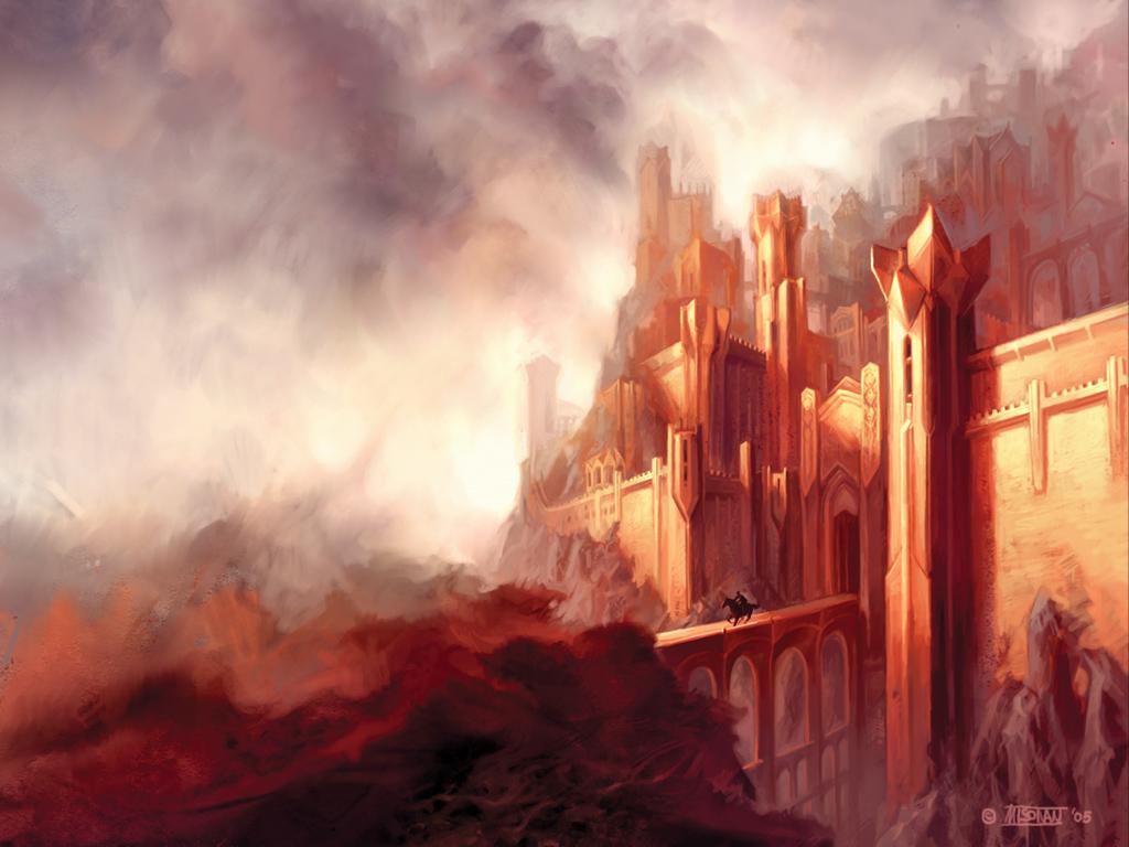 Papel de Parede Gratuito de Fantasia : Cidade de Pedra