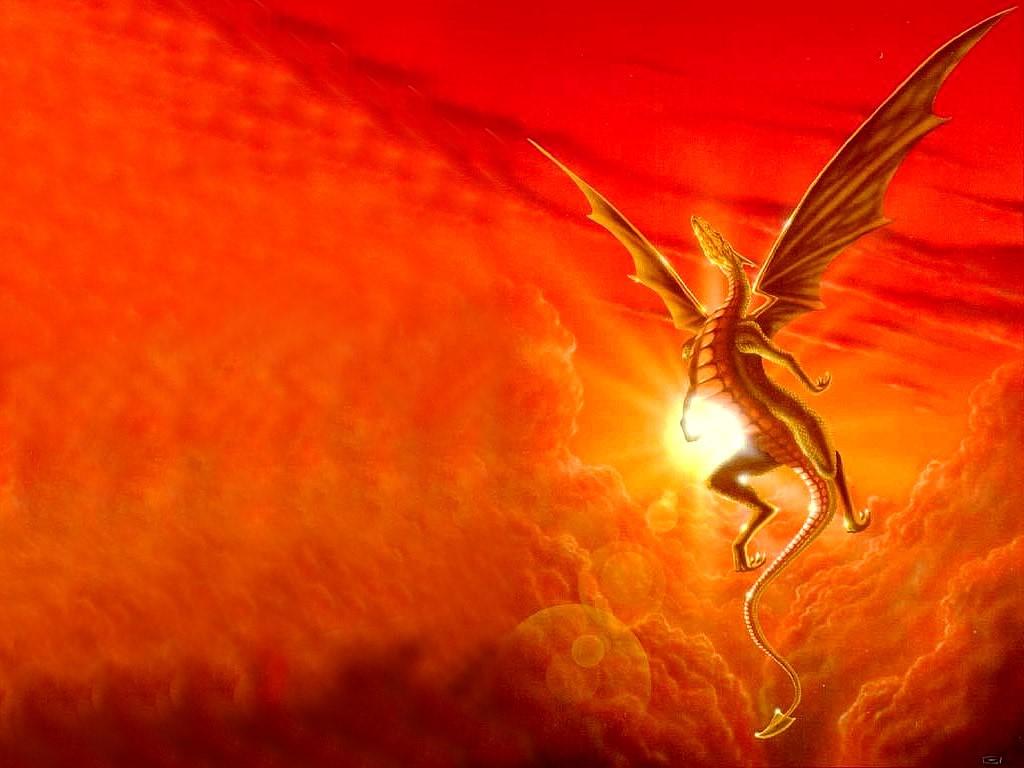 Fantasy Wallpaper: Sunset Dragon