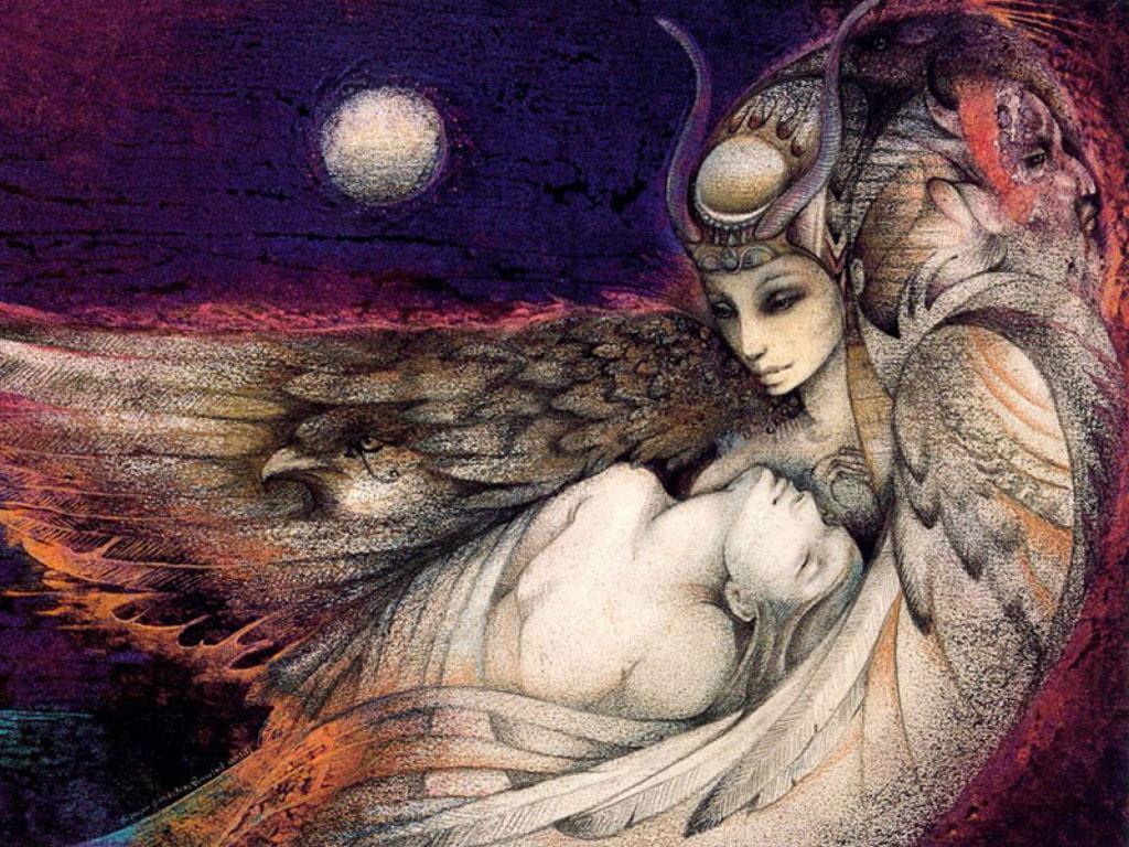 Fantasy Wallpaper: Susan Boulet - Isis and Osiris