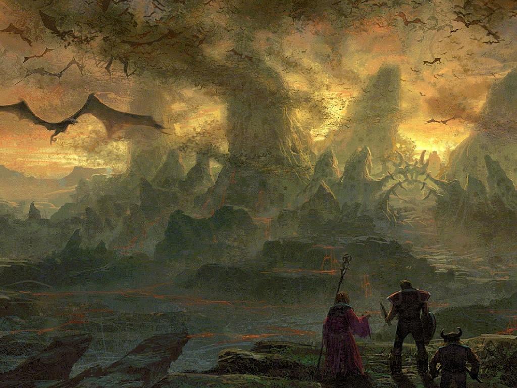 Fantasy Wallpaper: Swarm of Dragons
