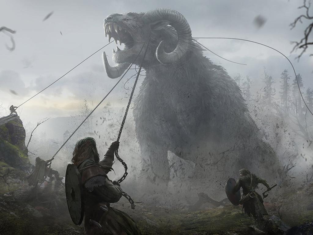 Fantasy Wallpaper: Taming the Beast