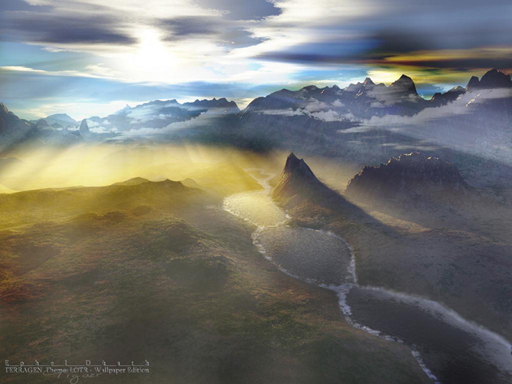 Fantasy Wallpaper: Terragen - Ephel Duath