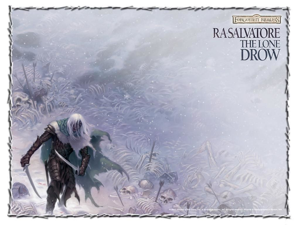 Fantasy Wallpaper: Forgotten Realms - The Lone Drow