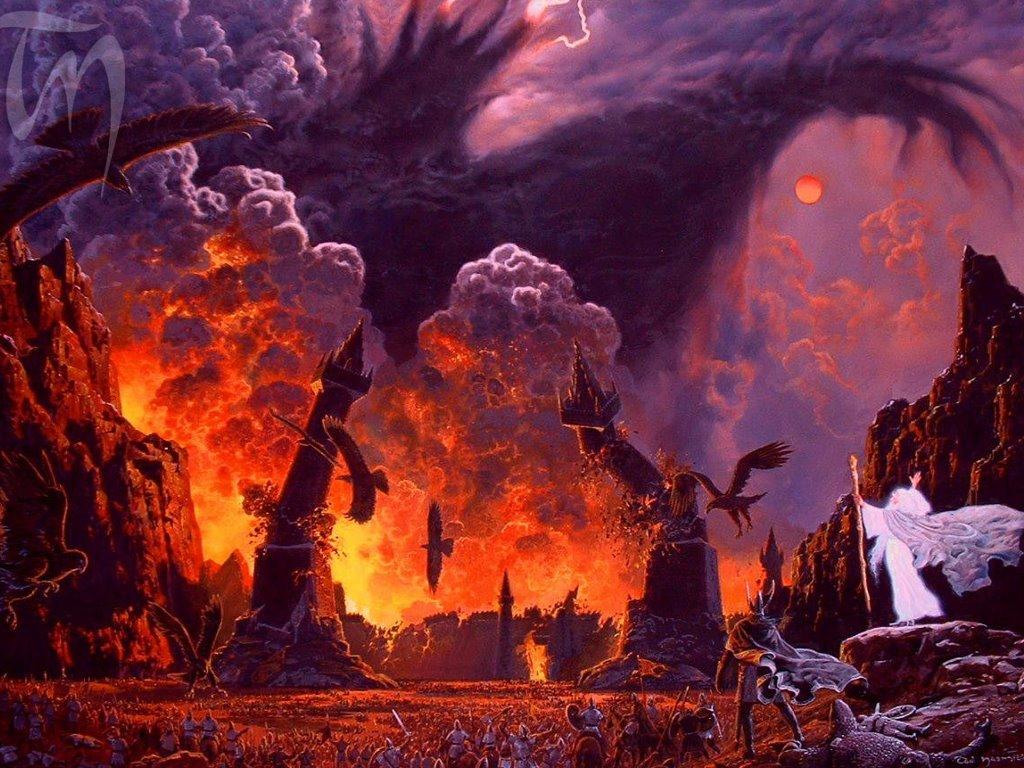 Fantasy Wallpaper: The Shadow of Sauron